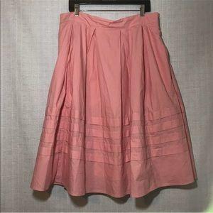 Eshakti Women's Flare pleated skirt peach